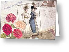 Duo For Piano And Violin Greeting Card