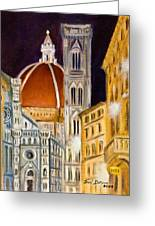Duomo At Night Greeting Card