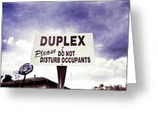 Duplex Yard Sign Stormy Sky Greeting Card