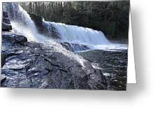 Dupont Forest Hooker Falls Greeting Card