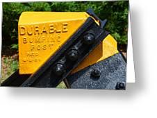 Durable Bumping Post Greeting Card