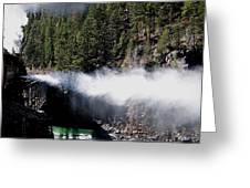 Durango Silverton Blowing Off Steam Greeting Card