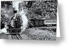 Durango Silverton Train Bandw Greeting Card