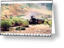 Durango-silverton Train Greeting Card