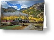Durango-silverton Twin Bridges Greeting Card