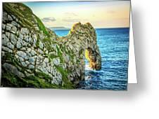 Durdle Dore - Ocean Rock Formation Greeting Card