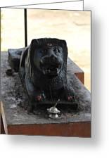 Durga's Lion, Valparai Greeting Card