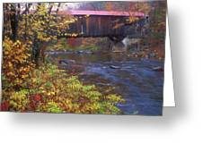 Durgin Covered Bridge Sandwich Greeting Card
