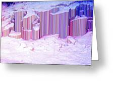 During The Snow Fall 35 Greeting Card