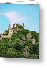 Durnstein Castle And Stone Outcroppings Greeting Card