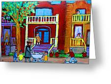 Durocher Street Montreal Greeting Card