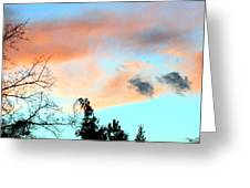Dusk And Dogs Greeting Card