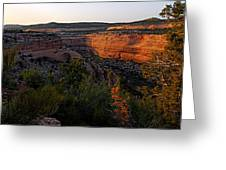 Dusk At Colorado National Monument Greeting Card