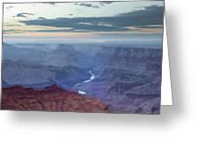 Dusk At Desert View Greeting Card