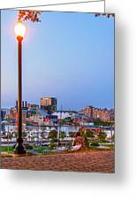 Dusk At Federal Hill Greeting Card
