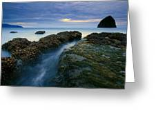 Dusk At Kiwanda  Greeting Card