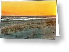 Dusk At The Shore Greeting Card