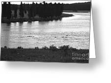 Dusk At The Yellowstone River Greeting Card
