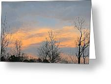 Dusk From The Deck Greeting Card
