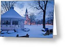 Dusk In Templeton Greeting Card