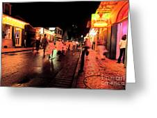 Dusk On Bourbon Street  Greeting Card