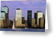 Dusk On Lower Manhattan Greeting Card