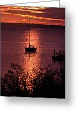 Dusk On The Bay Greeting Card