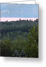 Dusk On The Hill Greeting Card