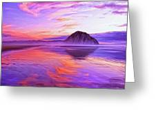 Dusk On The Morro Strand Greeting Card