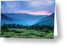 Dusk Over Guanella Pass Greeting Card