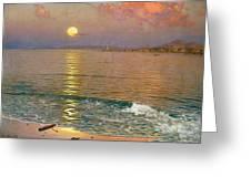 Dusk Over The Coast Greeting Card
