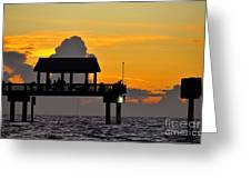 Dusk Over The Gulf Greeting Card