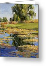 Dusk Over The Pond Greeting Card