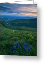 Dusk Over The Yakima Valley Greeting Card