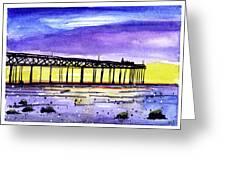 Dusk Pier Greeting Card