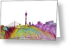Dusseldorf Skyline 3 Greeting Card
