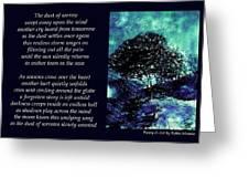 Dust Of Sorrow - Poetry In Art Greeting Card