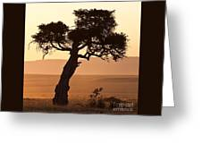 Dusty Sunset Over The Mara Greeting Card