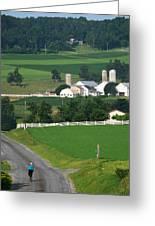 Dutch Country Bike Ride Greeting Card