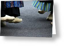 Dutch Dancers In Holland Greeting Card