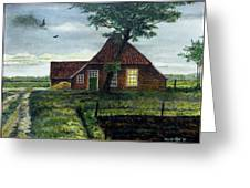 Dutch Farm At Dusk Greeting Card