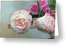 Dutch Frilled Roses Greeting Card