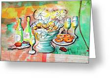 dutch new year party greeting card
