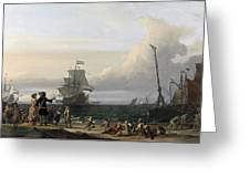 Dutch Ships In The Roads Of Texel Greeting Card