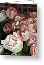 Dutch Tulips Dutch Tile Greeting Card