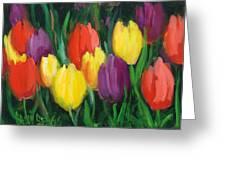 Dutch Tulips Greeting Card