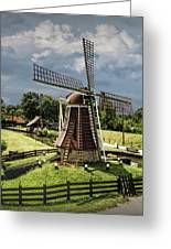 Dutch Windmill Near The Zuider Zee Greeting Card