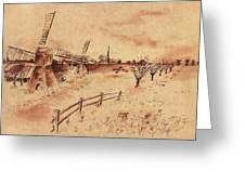Dutch Windmills Greeting Card
