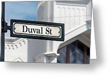 Duval Street In Key West Greeting Card