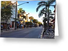 Duval Street In Key West Greeting Card by Susanne Van Hulst